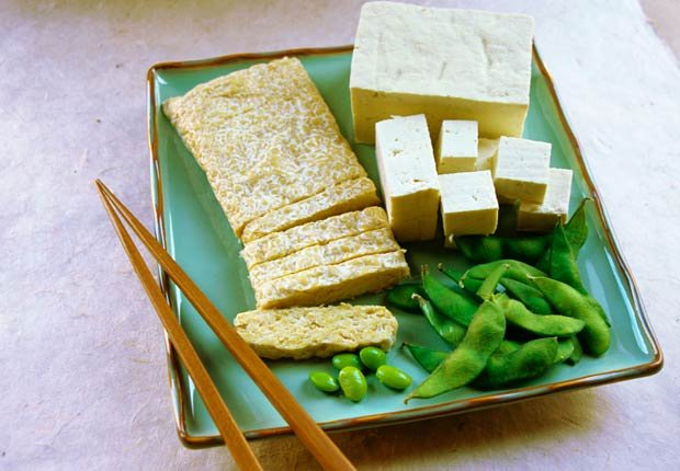 Los productos de soya, tofu y edamame  - alimentos excelentes para su corazón