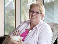 Jane Jones attributes with eating oatmeal to her weight loss success so far