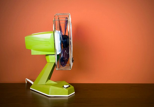 Retro electric fan. Create a breeze to keep bugs away. (Thomas Vogel/Istockphoto)