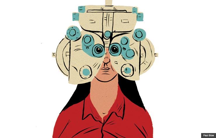 Cataracts surgery eye examination (Paul Blow)