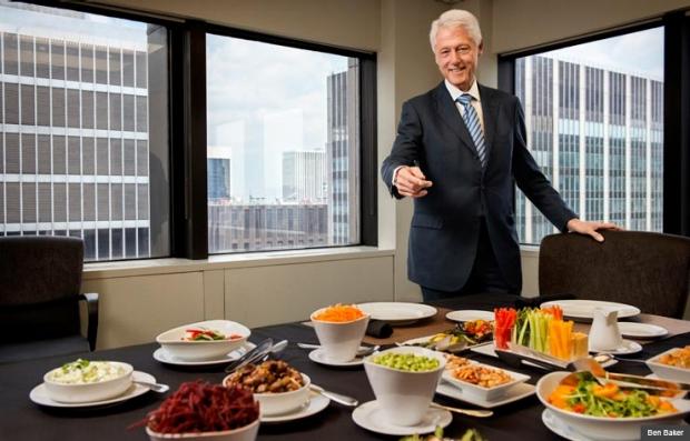 Bill Clinton disfrutar del almuerzo especial con Joe Conason en Nueva York - Por qué me convertí en vegano