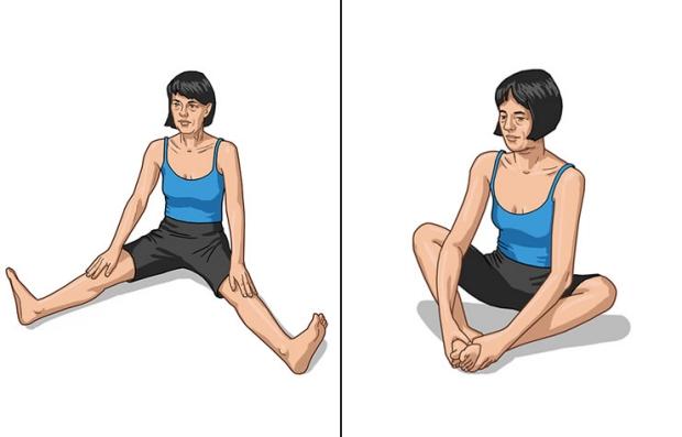 Pose de cobblers en yoga - Los beneficios del yoga en los 50s, 60s y 70s