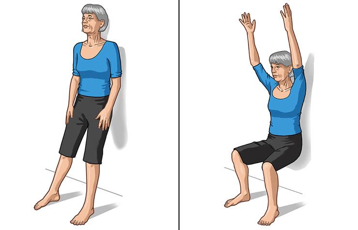 Yoga Half Chair Pose
