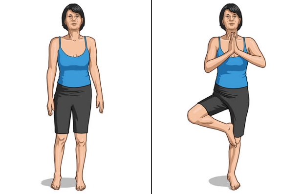 Pose de árbol de yoga - Los beneficios del yoga en los 50s, 60s y 70s