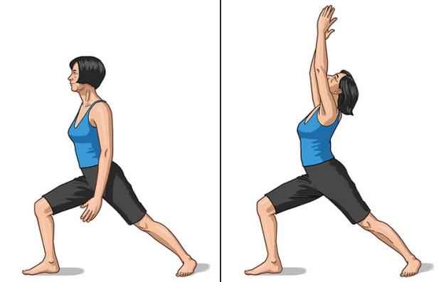 Pose de guerrero en yoga - Los beneficios del yoga en los 50s, 60s y 70s