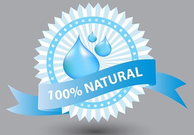 Etiqueta del producto natural del 100% - Cuando los buenos hábitos se tornan en malos hábitos