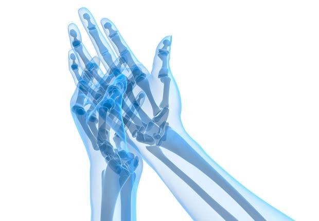 Ilustración de los huesos de las manos - ¿Qué pasa con nuestro cuerpo cuando nos sentamos durante casi ocho horas al día?