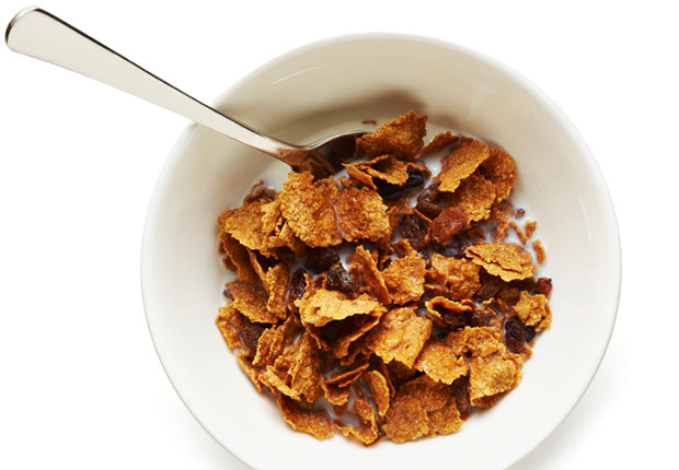 Cereal and milk. Milk contains the sleep-promoting tryptophan, which the brain uses to make melatonin, a hormone that controls sleep and wake cycles. According to the National Sleep Foundation, the carbohydrates in cereal make tryptophan more available to the brain. For the best nutritional bang, choose a small bowl of whole-grain, low-sugar cereal.