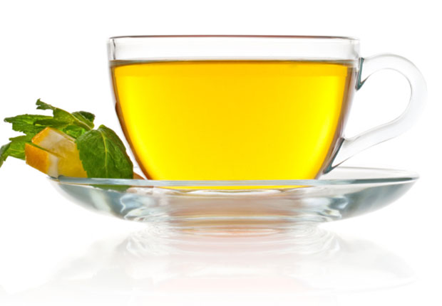 Green tea contains theanine, an amino acid that helps reduce stress and promotes relaxation. Just make sure that the green tea you enjoy at night is decaffeinated because, like all tea, the caffeine in regular green tea might keep you awake.