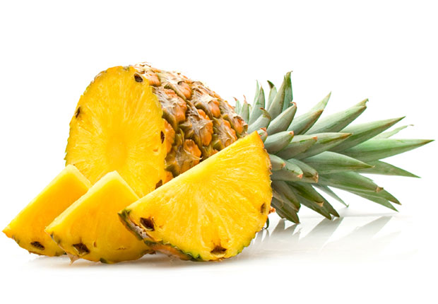 Pineapple. Certain fruits, including pineapple, bananas and oranges, can significantly boost natural levels of melatonin that tend to drop as the body ages. Researchers found that consuming pineapple raised levels of a melatonin marker by more than 250 percent, bananas by 180 percent and oranges by 47 percent.