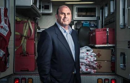 David Sanderson, superviviente de un accidente aéreo.