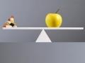 Una manzana y una píldoras en una balanza - Consejos para perder peso saludablemente este verano