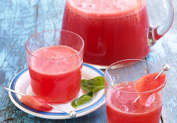 Drink Your Watermelon  A tall glass of watermelon juice can relieve muscle soreness because of the melon's high levels of an amino acid called L-citrulline. Just be sure to store your watermelons at room temperature. A Department of Agriculture study found room-temperature watermelons had twice the levels of vitamin A and 20 percent more lycopene. Once it's cut, refrigerate it.
