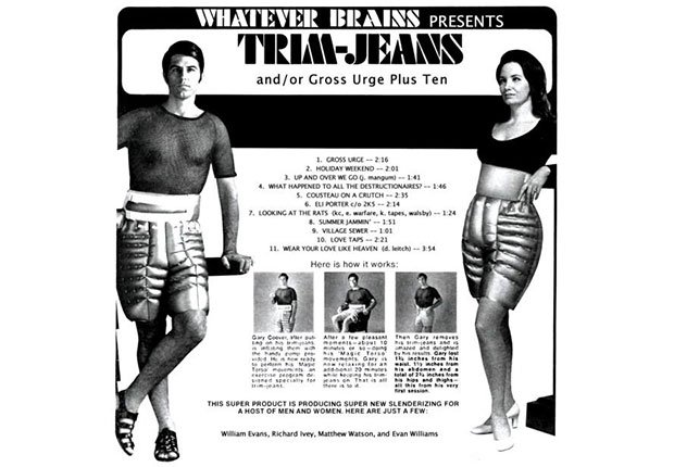 An ad for Trim-Jeans, Faded Boomer Fitness Fads