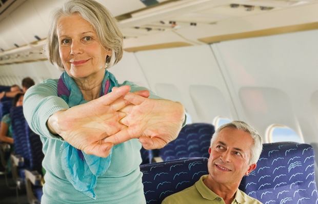 Stretch During Flights, Prevent Sickness While Traveling