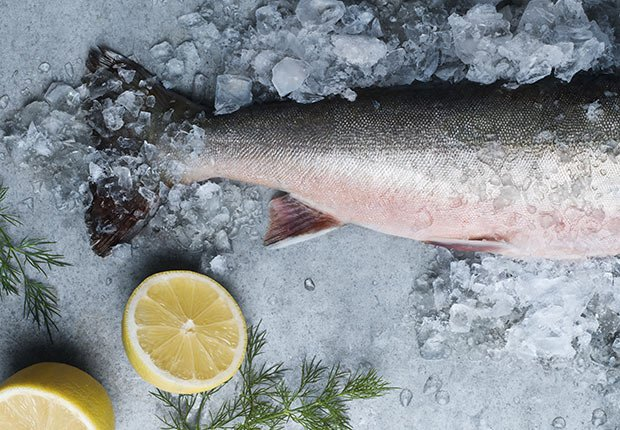 Lower dementia risk nutrition salmon cold water fish