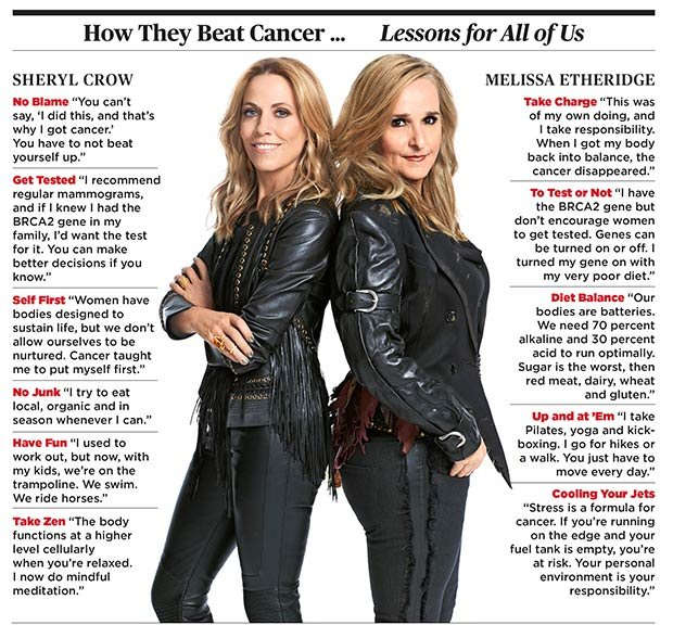 Melissa Ethridge Sheryl Crow Breast Cancer Lessons
