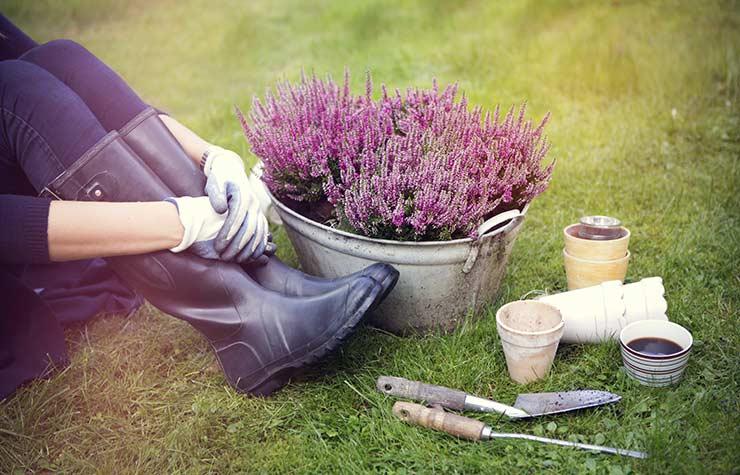 De-Stress Your Life Garden Flowers Boots