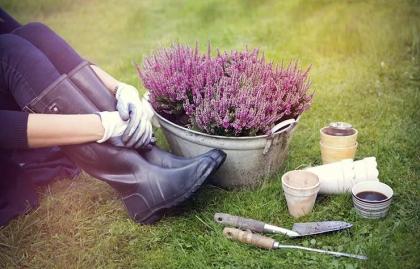 Mujer trabajando en un jardín - El estrés puede enfermarte