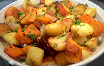Healthy Thanksgiving Recipes Roasted Winter Vegetables ESP