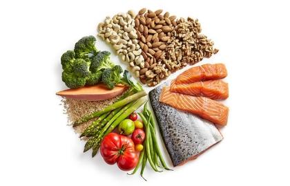 Varios grupos de alimentos en forma de círculo - Doctor de la 'zona', crea su dieta mediterránea