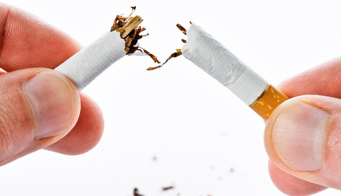 Broken cigarette-Quit smoking ESP