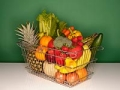 Canasta de frutas y vegetales - Cómo comer saludable y perder peso