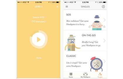 Meditation Cure Headspace App Phone