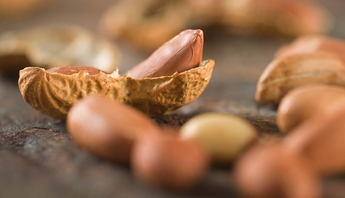Closeups of peanuts and shells, Best Nuts Health