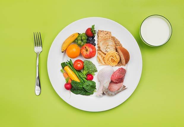 Planto con alimentos nutritivos