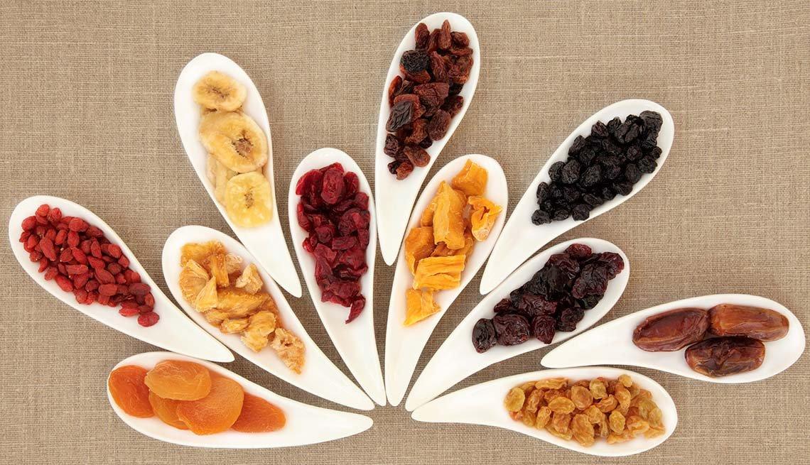 Variedad de frutas secas