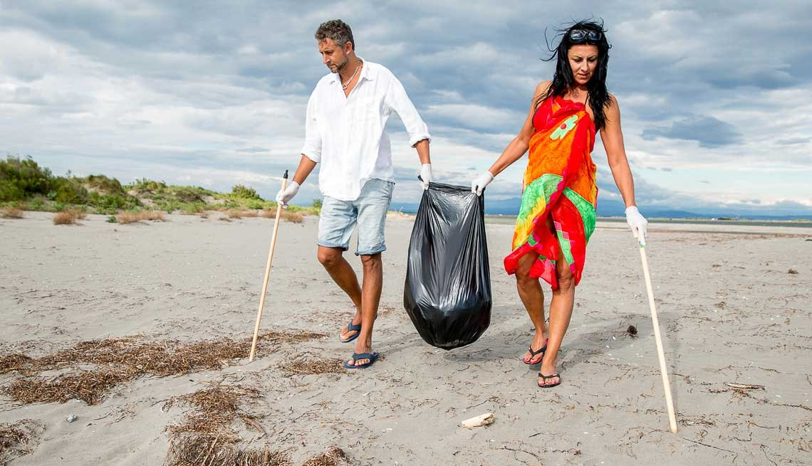 Couple Cleaning Up On Beach, How to Increase Libido