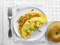 Tortilla de huevo con verduras