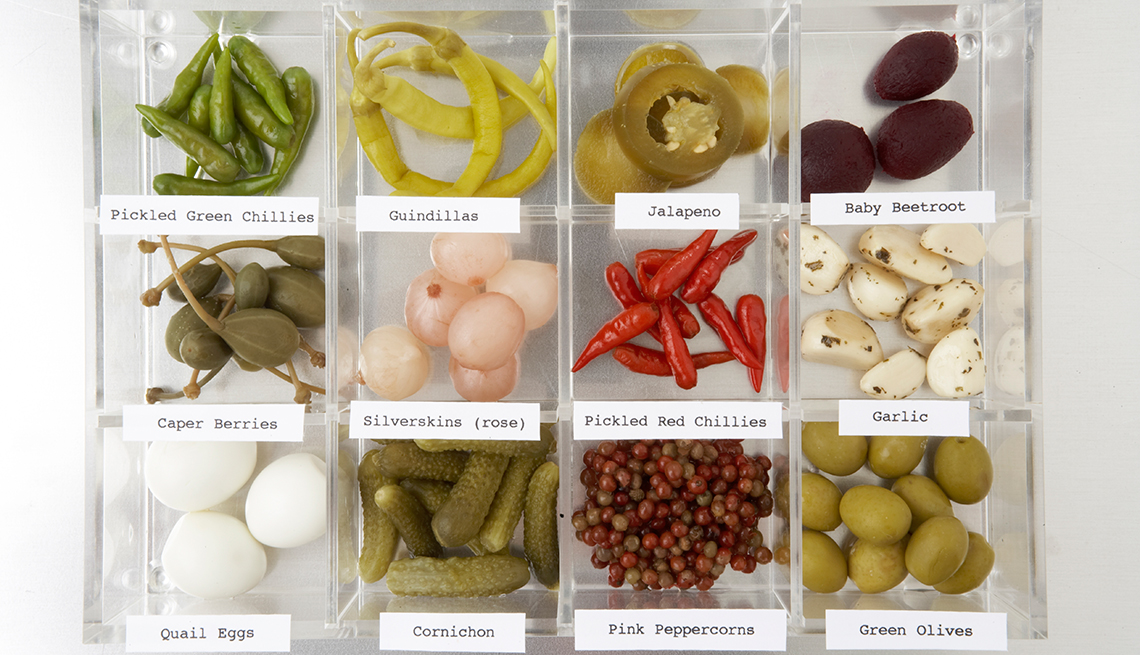 Diferentes vegetales