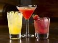 Tres bebidas alcoholicas diferentes