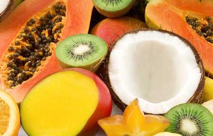 Combinaciones de frutas ideales para merendar o desayunar - Kiwi, papaya, coco y mango