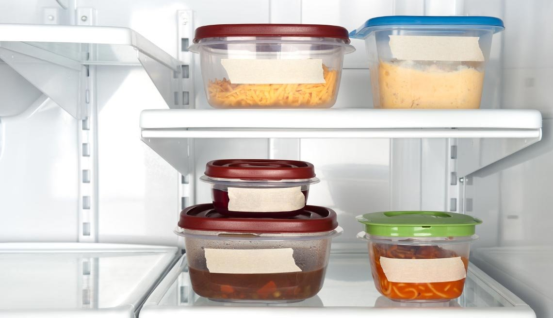 Containers of leftover food in a refridgerator, Things to Throw Out