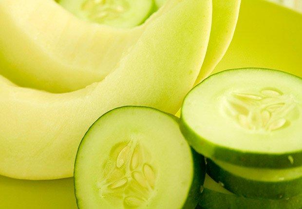 Jugos naturales: combinaciones de frutas y vegetales - Pepino cocombro y sandía