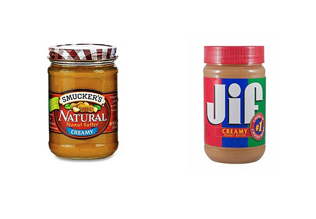 Mantequilla de maní Smucker's versus mantequilla de maní Jif