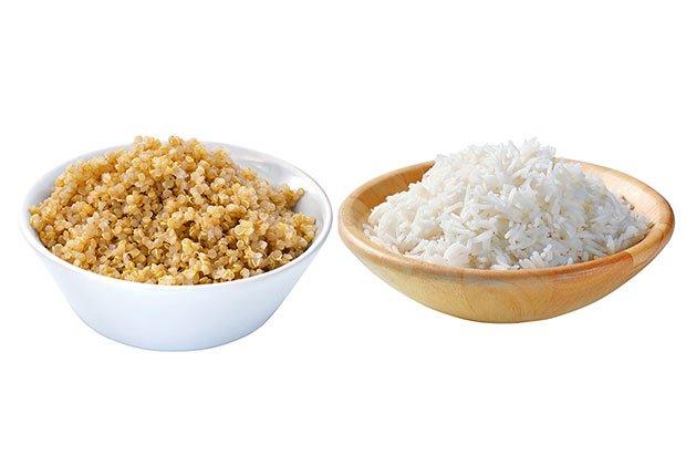 Quinua versus arroz