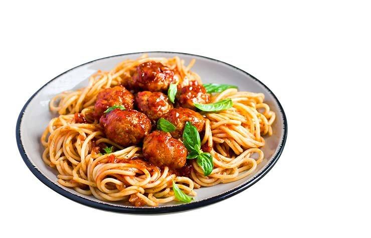 Spaguetti con albóndigas