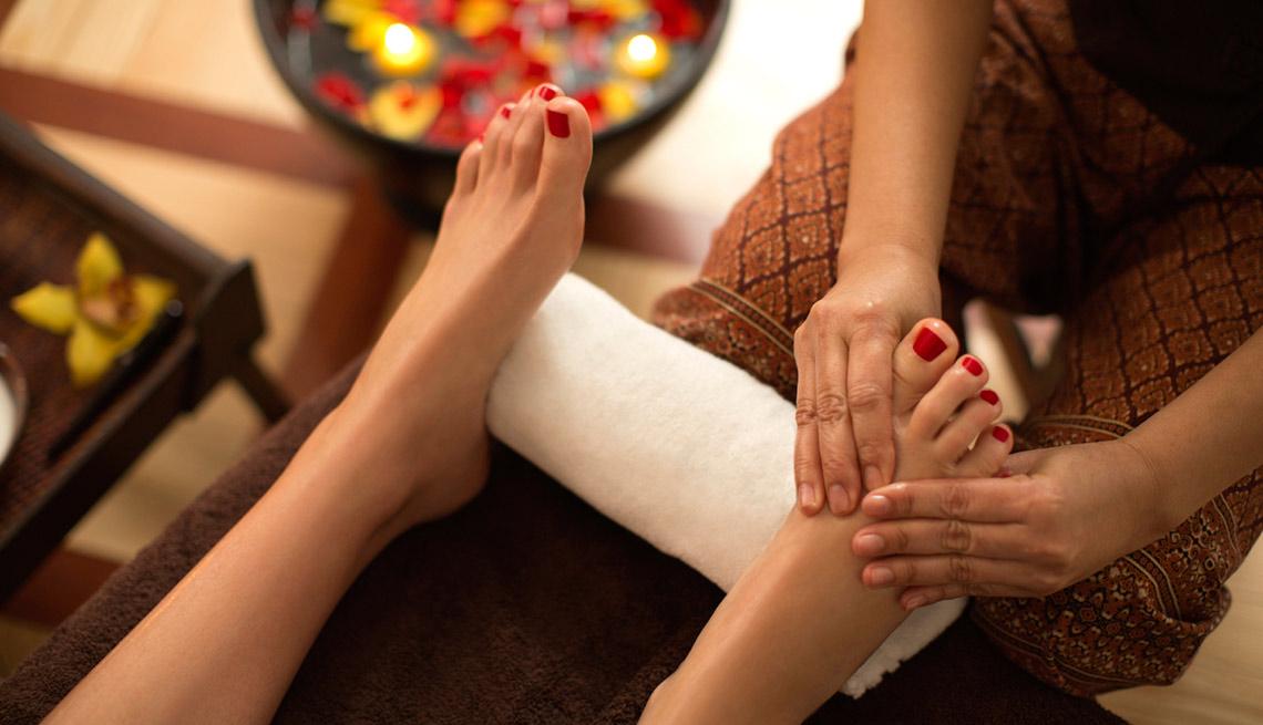 Masaje en los pies