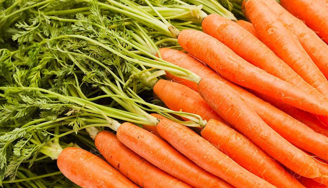 Zanahorias - Frutas y vegetales que podrían causar alergias