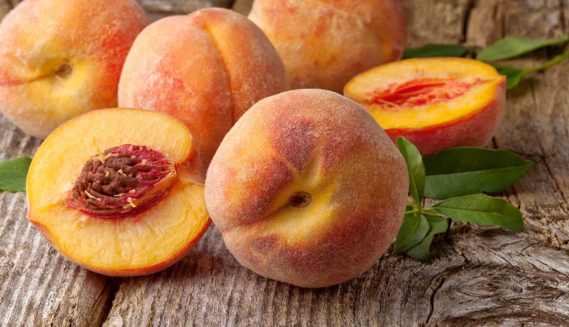 Melocotón - Frutas y vegetales que podrían causar alergias