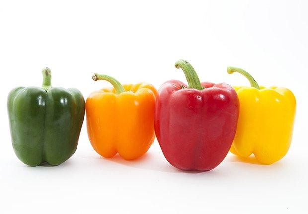 Pimentos de varios colores - Frutas y vegetales que podrían causar alergias