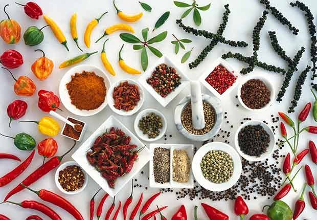 Variedad de especias