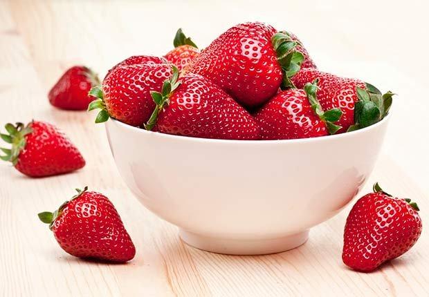 Fresas - Frutas y vegetales que podrían causar alergias