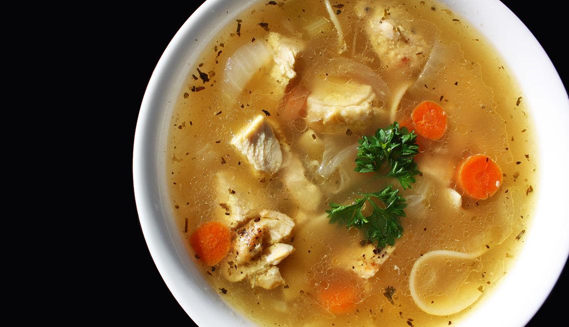 Sopa de pollo - Remedios caseros