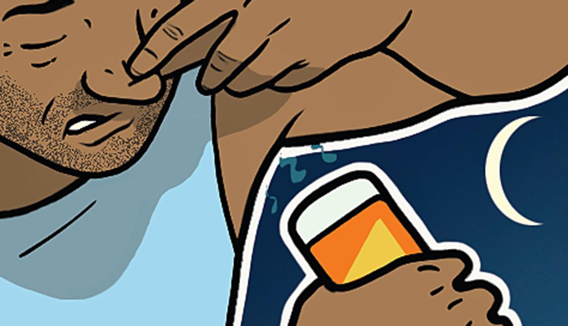 Gráfico - Hombre poniéndose desodorante
