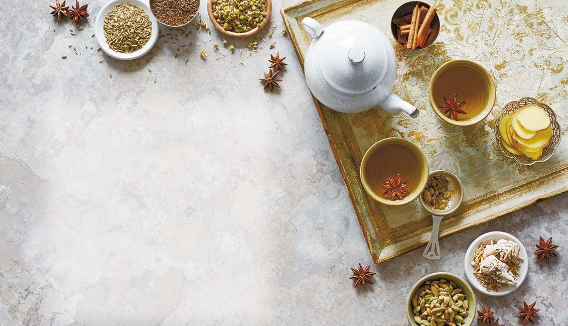 Recetas de tés con hierbas y semillas que sanan